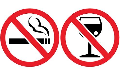 табу на алкоголь и курение