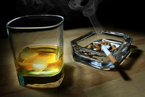 спиртное и сигареты