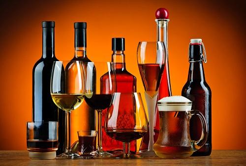 Прием спиртосодержащих напитков