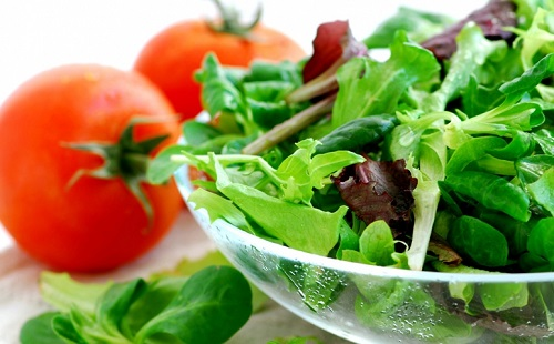 Сырые овощи при язве